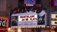 Famous B.B. King Theatre on Broadway Stock Footage