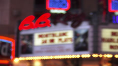 Famous B.B. King Theatre on Broadway - stock footage