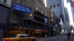 Majestic Theatre on Broadway playing Phantom of the Opera Stock Footage