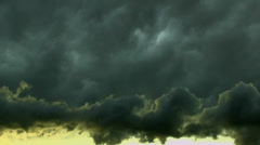 Dark Thick Storm Cloud Mass Time Lapse Stock Footage