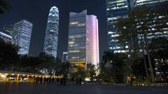 Hong Kong financial Central district at dusk Asia China Stock Footage
