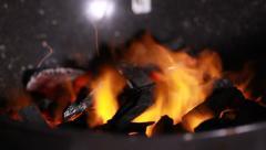 Burning coal Stock Footage