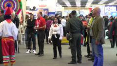 Conference, Conventions, Booths, Stands, Pavillions Stock Footage