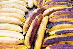 Stock Photo of grilled bananas