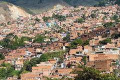 Slum medellin, colombia Stock Photos