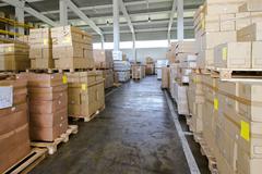 storehouse corridor - stock photo