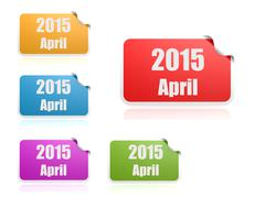 april of 2015 - stock illustration