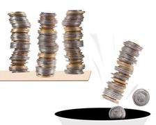 polish zloty squander money falling down - stock photo