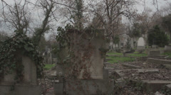 Old haunted cemetery [flycam] _3 Stock Footage