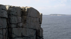 Tilt down to The Gap Albany, Western Australia Stock Footage