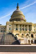 steps to the united states capitol, in washington, dc. - stock photo