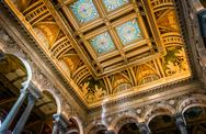 Stock Photo of the interior of the library of congress, in washington, dc.