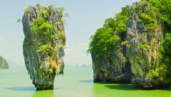 James bond island (ko tapu), phang nga, thailand Stock Footage