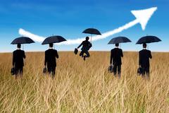 Insurance agent concept Stock Illustration