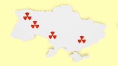 Ukraine atom station localicalization Stock Footage