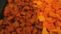 Butternut Squash Cut Cooked Stock Footage