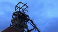 Stock Video Footage of Industrial building at Dusk
