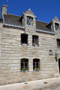 Typical houses of the medieval town of concarneau, in the north of france Stock Photos