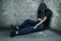 User of drug abuse Stock Photos