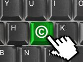 Stock Photo of Computer keyboard with Copyright symbol