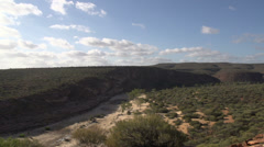 Long Pan from Kalbarri National Park and Murchison River Stock Footage