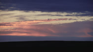 Stock Video Footage of Rolling Clouds at Dawn - Dramatic