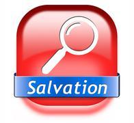 find salvation - stock illustration