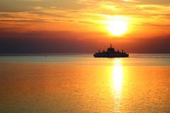 Sunset Cruise ship Stock Photos