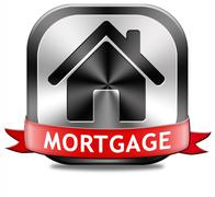 mortgage button - stock illustration