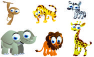 Stock Illustration of cute safari animals