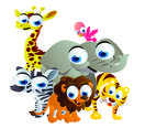 Stock Illustration of safari animals