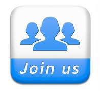 join us button - stock illustration