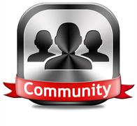 Stock Illustration of community button