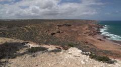 Pan Coastline Kalbarri, Western Australia Stock Footage