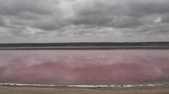 Time lapse from the Pink lake, Western Australia Stock Footage