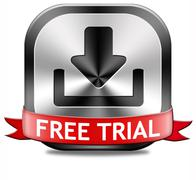 free trial download button - stock illustration
