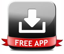 free app download button - stock illustration