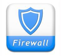 Firewall button Stock Illustration