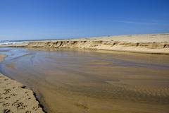 beach near oporto, in the north of portugal - stock photo