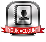 Your account Stock Illustration
