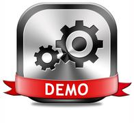 demo button - stock illustration