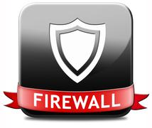 firewall button - stock illustration