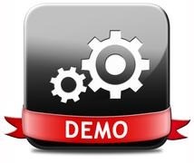 Demo button Stock Illustration