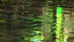 Footsteps in the Rain Stock Footage