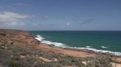 Coastline Kalbarri, Western Australia Stock Footage