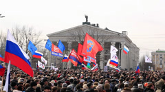 Russian spring. Peaceful rally against the Nazis. Full HD Stock Footage