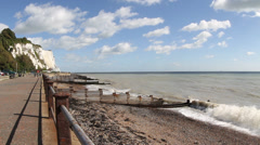 St Margarets Bay and Beach, Dover Kent, England Stock Footage