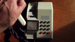BT Viscount Telephone being used Stock Footage