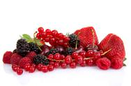 Stock Photo of pile of red summer fruits or berries