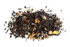 Traditional black dried tea with additions Stock Photos